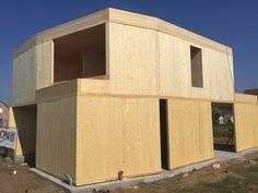 NZEB - single family house build with #CLT #crosslaminatedtimber
