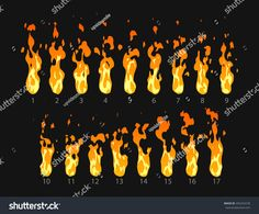 stock-vector-sprite-sheet-of-fire-torch-campfire-fire-trap-fire-pillar-or-something-else-animation-f.png (1500×1243)