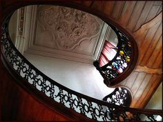 Art Nouveau Staircase in the Town Hall of Lier, some 25 minutes from Antwerp, Belgium.