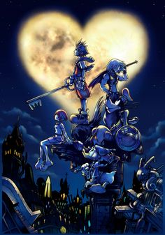 (See I'm playing Kingdom Hearts.)I'm somewhat uncomfortable writing about Kingdom Hearts, so much so that I almost didn't bother writing this. Video Game Art, Video Games, Kingdom Hearts Wiki, Kingdom Hearts Tattoo, Tetsuya Nomura, 8bit Art, Pokemon, Dearly Beloved, Shall We Date