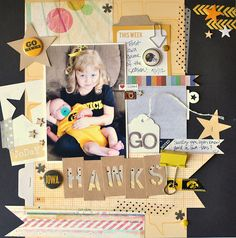 Fabulous layout by Jennifer Chapin using Iowa Hawkeye flair! Love!