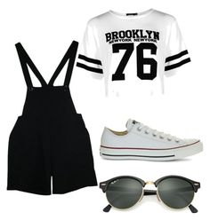 How to wear overalls by rimalee on Polyvore featuring polyvore, fashion, style, Boohoo, American Apparel, Converse, Ray-Ban and clothing