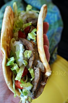 Homemade Gyros. SO freakin' good!   | Fields of Cake and Other Good Stuff