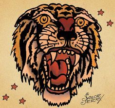 ... but a bobcat not a tiger more sailor jerry tattoo tiger tattoo tattoo
