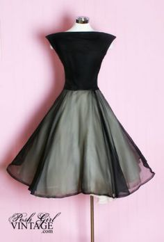 1950's Black Evening AUDREY dress.