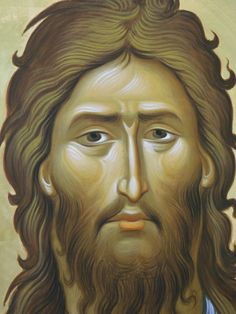 Byzantine Icons, John The Baptist, Orthodox Icons, Religious Art, Ikon, Saints, Face, Painting, Christ