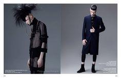#dark #gotico #punk #maquillaje #cadenas #pelo #fotografia #fashion #transparencia #saco #hombre