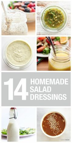 Healthy Swap Recipes: We are always looking for healthier ways to top our salads. Here's our list of favorite healthy homemade dressings! What dressing is your favorite?