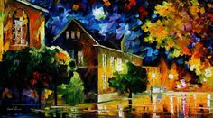 QUIET TOWN - PALETTE KNIFE Oil Painting On Canvas By Leonid Afremov http://afremov.com/-QUIET-TOWN-PALETTE-KNIFE-Oil-Painting-On-Canvas-By-Leonid-Afremov-Size-36-x20.html?bid=1&partner=20921&utm_medium=/vpin&utm_campaign=v-ADD-YOUR&utm_source=s-vpin
