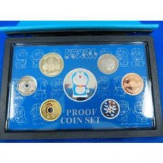 2005 Doraemon 35th Anniversary 7 proof coin set from JAPAN 799