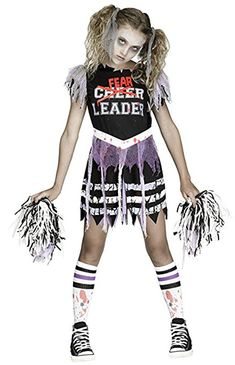Details about  /Ladies Cheerleader Fancy Dress Costume /& Poms Womens Red Outfit by Smiffys