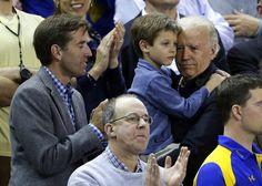 Joe Biden looking at the court at a Delaware... - Joe Biden Looking At Stuff