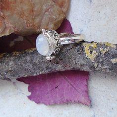 Mondstein, Gift - Ring, Ø 19,75 mm, 925 Sterling Silber in Uhren & Schmuck…