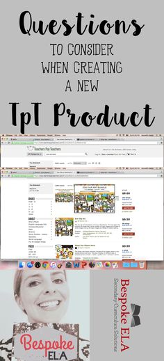 This blog article explores important questions to consider when creating a new TpT (Teachers Pay Teachers) product.  This will help you figure out which product to make next!