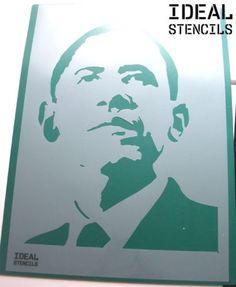 Barack-Obama-Stencil-art-craft-painting-wall-decor-reusable-Ideal-Stencils - http://www.ebay.co.uk/itm/Barack-Obama-Stencil-Iconic-face-wall-decor-art-Paint-reusable-Ideal-Stencils-/151625327117?