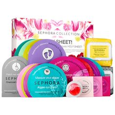 Shop SEPHORA COLLECTION's HOLY SHEET! Set at Sephora. This set of 19 betselling products for eyes, hands, feet, and face is the ultimate spa treatment.