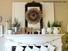 The Inspired Room- mantel Christmas