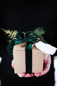 Brown Paper Packages Tied in Green Velvet Christmas Mood, Christmas Gift Guide, Noel Christmas, Christmas Gift Wrapping, All Things Christmas, Holiday Gifts, Christmas Crafts, Christmas Decorations, Xmas