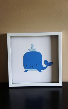 Whale Wall Art-Nursery Decor. Make this a white whale and you've got baby baluga!!!
