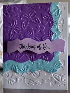 love the layered Embossed look with any folder style