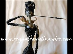 Wire sculpture of Audrey Hepburn as Holly Golightly in Breakfast at Tiffany's