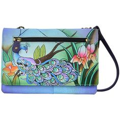 09fc0782b4 Women s ANNA by Anuschka Hand Painted Organizer Wallet On String 1834  Leather