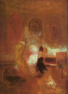 Joseph Mallord William Turner - Music Party, East Cowes Castle, c 1835. Tate Gallery, London