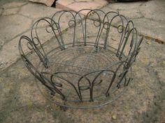 old wire folding basket