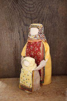 """Купить Народная русская куколка-ведучка """"Мама-солнце"""" - желтый, коричневый, народная кукла, деревня"""
