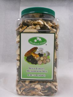 Mushroom House Wild Forest Blend 1lb Jar  516-942-9312 ext214 Shari. Wholesalers, Distributors, and Retailers.