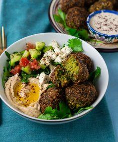 Falafel Salad, Falafel Recipe, Homemade Tahini, Homemade Hummus, Vegetarian Recipes, Cooking Recipes, Healthy Recipes, Healthy Dinners, Vegan Recipes