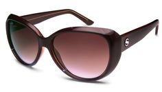 Audrey - Shiny Crystal Light Orange Frame // Brown Gradient Lens