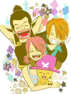 Usopp, Nami, Sanji, Chopper