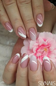 Top 100 matte nail art design ideas page 11 Nail Art Designs, New Nail Art Design, Colorful Nail Designs, French Manicure Nails, French Nails, Subtle Nails, Nail Mania, Matte Nail Art, Trendy Nail Art