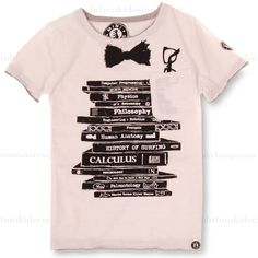 Mini Shatsu Geek Books Tee: Designer Kids Clothes | Shop our Boutique for Cool Children's Clothing