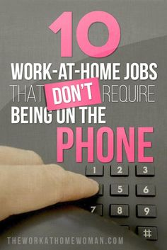 Want to work from home … but not on the phone? Check out this list of awesome … Want to work from home … but not on the phone? Check out this list of awesome work at home jobs! via The Work at Home Woman unique jobs, unique careers, career tips Earn Money From Home, Earn Money Online, Online Jobs, Way To Make Money, Earning Money, Online Careers, Win Money, Online Income, Money Fast
