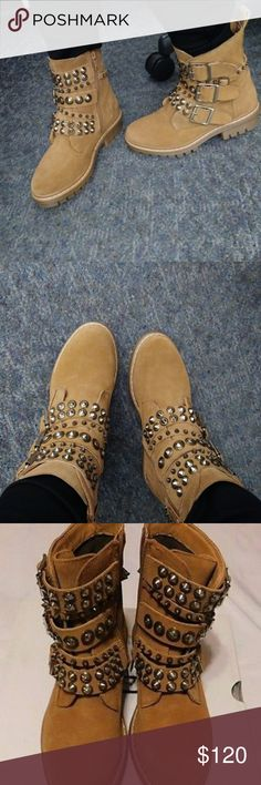 Aldo Suede Boots Size 6 Gorgeous ALDO, 100% suede, heavier feel and the appearance of the Timberland premium work boot, really chic and super trendy! Really high quality!! Aldo Shoes Combat & Moto Boots