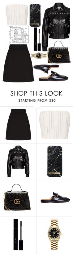 """Go to see the new attic in NYC"" by benedetta-ii ❤ liked on Polyvore featuring Gucci, Thierry Mugler, RED Valentino and Rolex"