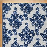 Found it at Wayfair - Ambrosia Indoor/Outdoor Area Rug Blue And Gold Living Room, Indoor Outdoor Area Rugs, Throw Rugs, Kids Rugs, Home Decor, Furniture Decor, Scarf Patterns, Outdoors, Store