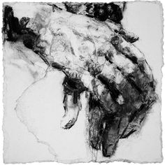 # Alison Lambert (Hands Study 1, charcoal and pastel on paper)