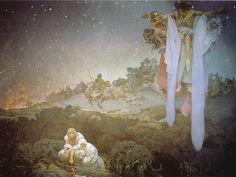 """Alfons Mucha, les Slaves dans leur patrie """"entre le talon des Turcs et l'épée de les Goths"""", 1912. Tempera sur toile, 610 x 810 cm.  Musée Mucha, Prague"""