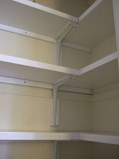 Walk in Kitchen Closet With L ShAped Corner Shelves Via