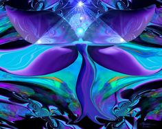 Angel Art Reiki Wall Decor Teal Purple Energy Art Pyramid Healer