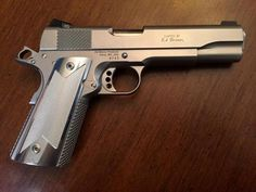 Ed Brown 1911 in Hard Chrome. This pistol is just... | Guns Knives Gear