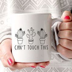 Can't Touch This Cactus Mug