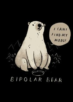 bipolar bear!  bipolar bear! Gallery quality print on thick 45cm / 32cm metal plate. Each Displate print verified by the Production Master. Signature and hologram added to the back of each plate for added authenticity & collectors value. Magnetic mounting system included.  EUR 39.00  Meer informatie