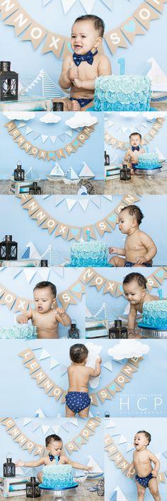 cake smash, little boy, 1st birthday, nautical, child photography, child photographer, baby photography, baby photographer, sky blue, backdrop, photography backdrop, nautical backdrop, medway uk.
