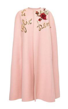 Double Crepe Ti Voglio Bene Cape by Dolce & Gabbana for Preorder on Moda Operandi
