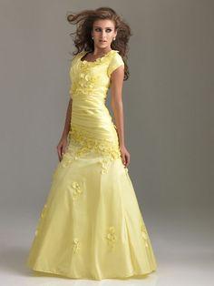 079e5915d1d 2012 Style A-line Scoop Hand-Made Flower Short Floor-length Taffeta Prom  Dress   Evening Dress