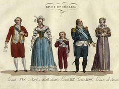 Louis XVI, Marie Antoinette, Louis XVII, Louis XVIII, Madame Royale ( Marie Therese Charlotte Duchess de Angouleme)